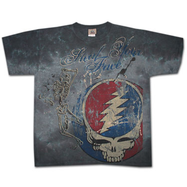 Grateful Dead Half Step Gray Tie-Dyed Graphic Tee Shirt