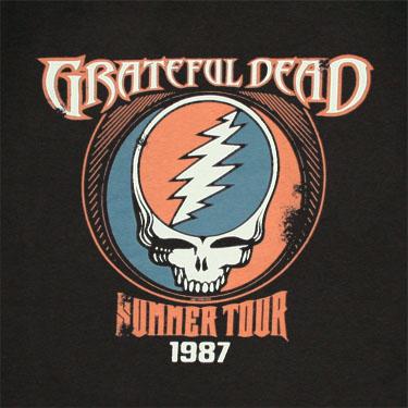 891d0174c94f Grateful Dead Summer Tour 1987 Black Graphic Tee Shirt
