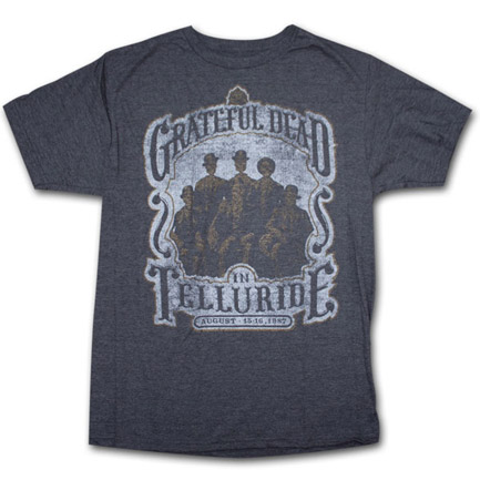 grateful dead telluride 1987 heather charcoal graphic tee shirt. Black Bedroom Furniture Sets. Home Design Ideas