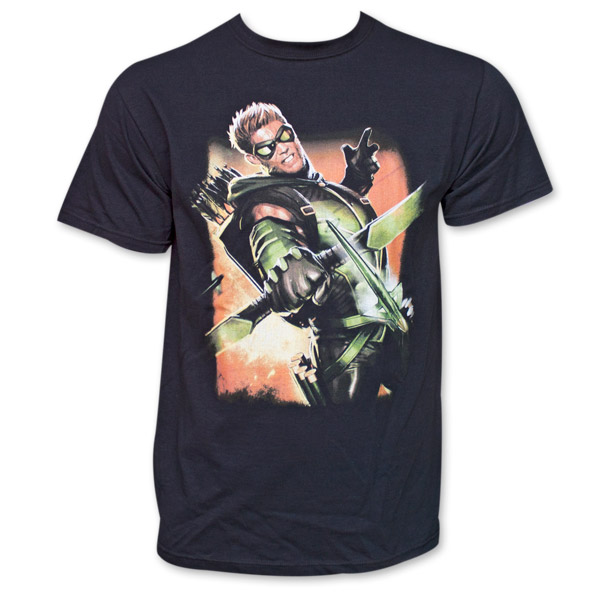 Green Arrow Full-color Photo #1 T-Shirt - Black