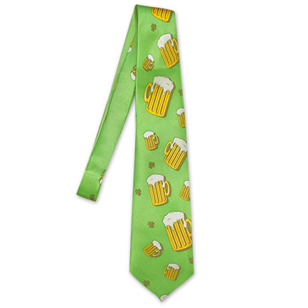 St. Patrick's Day Beer Mug Novelty Tie