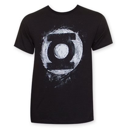 Green Lantern Sidewalk Chalk Logo T-Shirt