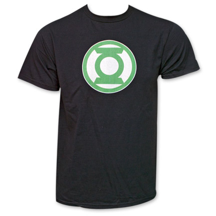 Green Lantern Logo Fan Tee - Black