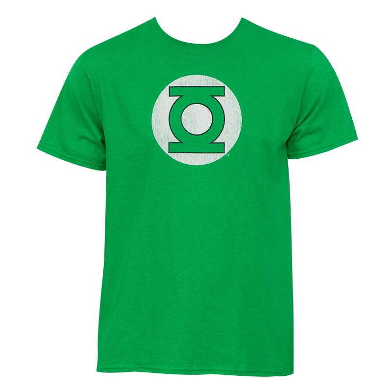 Green Lantern Distressed Logo Kelly Green Graphic T-Shirt