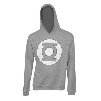 Green Lantern Logo Grey on Grey Hoodie
