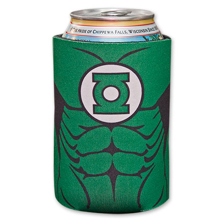 Green Lantern Body Beer Can Koozie