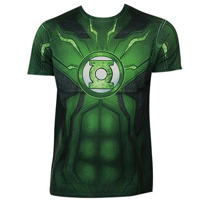 Green Lantern Men's Sublimated Costume T-Shirt