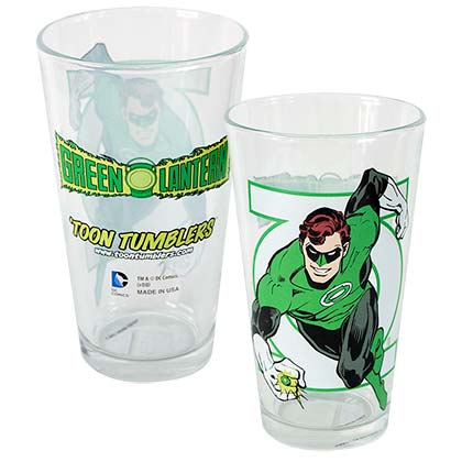Green Lantern Toon Tumbler Glass