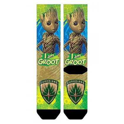 Guardians Of The Galaxy Sublimated Comic Groot Crew Socks