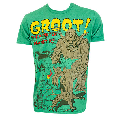 Guardians Of The Galaxy Men's Green Groot Monster From Planet X T-Shirt