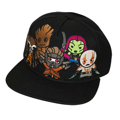 Guardians Of The Galaxy Kawaii Black Snapback Hat