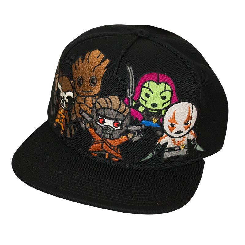 ebd7f20a4c6 Guardians Of The Galaxy Kawaii Black Snapback Hat
