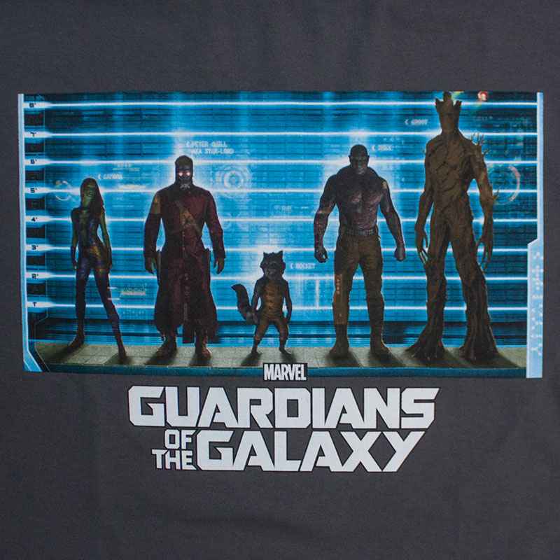 Guardians Of The Galaxy Character Lineup Tee Shirt