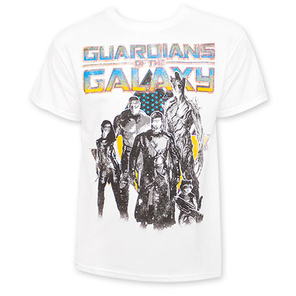 Guardians Of The Galaxy White Character Portrait Tee Shirt