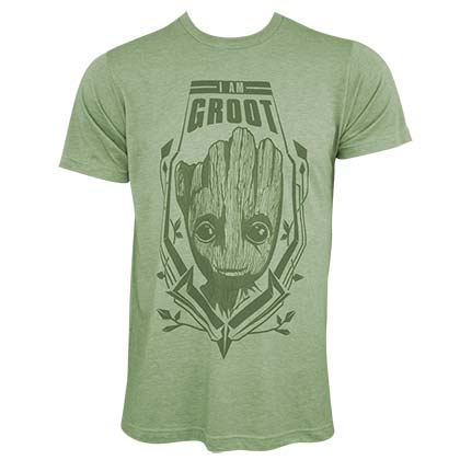 Guardians Of The Galaxy Men's Green Groot T-Shirt