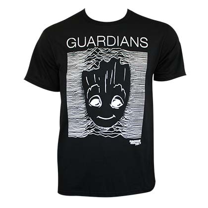 Guardians Of The Galaxy Men's Black Groot Stripes T-Shirt