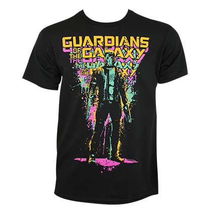 Guardians Of The Galaxy Men's Black Paint Splatter T-Shirt