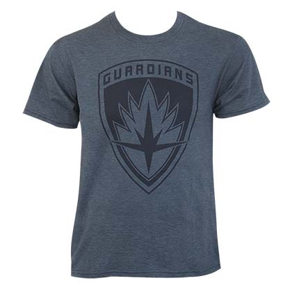 Guardians Of The Galaxy Men's Heather Blue Logo T-Shirt