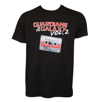 Guardians Of The Galaxy Men's Black Vol 2 Mixtape T-Shirt