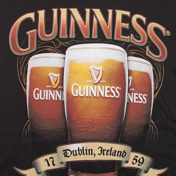 Guinness Triple Pint Design Tee Shirt - Black
