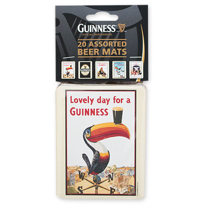 Guinness 20 Assorted Beer Coasters