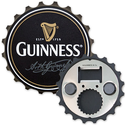 Guinness Bottle Cap Magnetic Bottle Opener