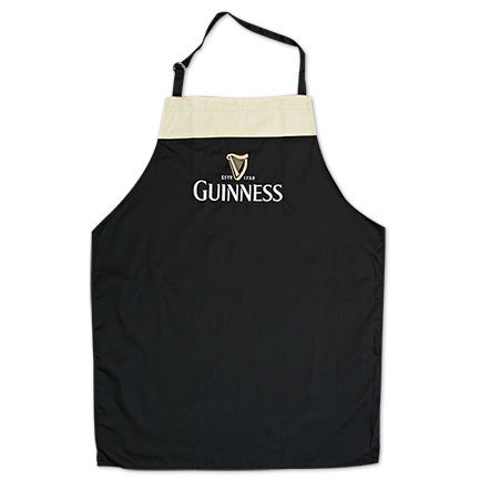 Guinness Embroidered Chef's Adjustable Apron - Black