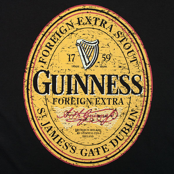 Guinness Stout Foreign Label Tee - Black