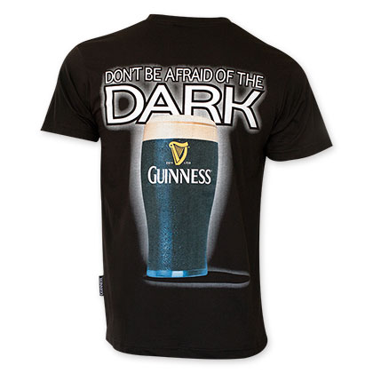 Guinness Men's Black Don't Be Afraid Of The Dark Tee Shirt