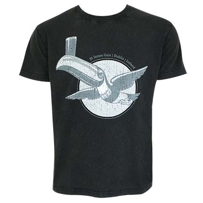 Guinness Men's Black Gilroy The Toucan T-Shirt