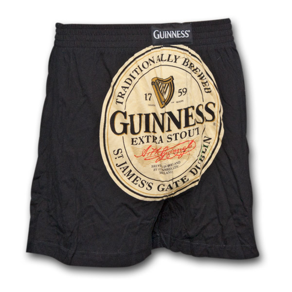 f8a9bb7151 Guinness Extra Stout Label Black Mens Boxer Shorts