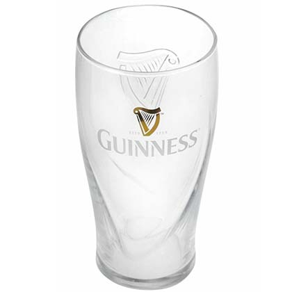 Guinness Beer Drinking Gravity Pint Glass