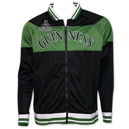 Guinness Ireland Zip-Up Mens Jacket - Green Black