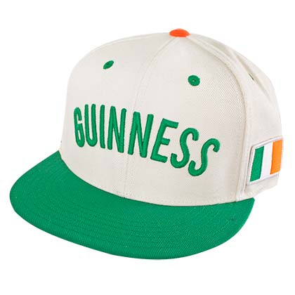 Guinness White Irish Flag Snapback Hat