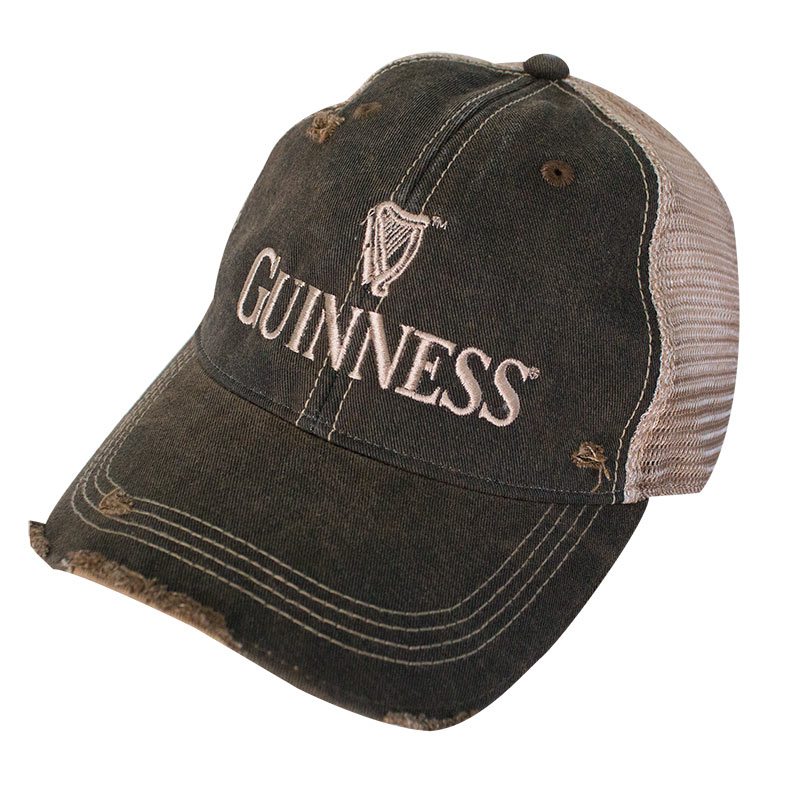 Guinness Brown Harp Logo Mesh Trucker Hat