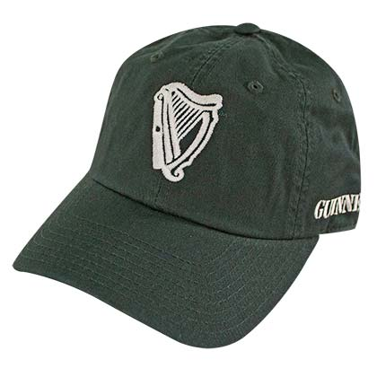 Guinness Harp Logo 1759 Dark Green Mens Adjustable Hat