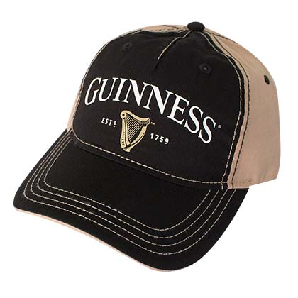 Guinness Black Harp Logo Strap Back Hat