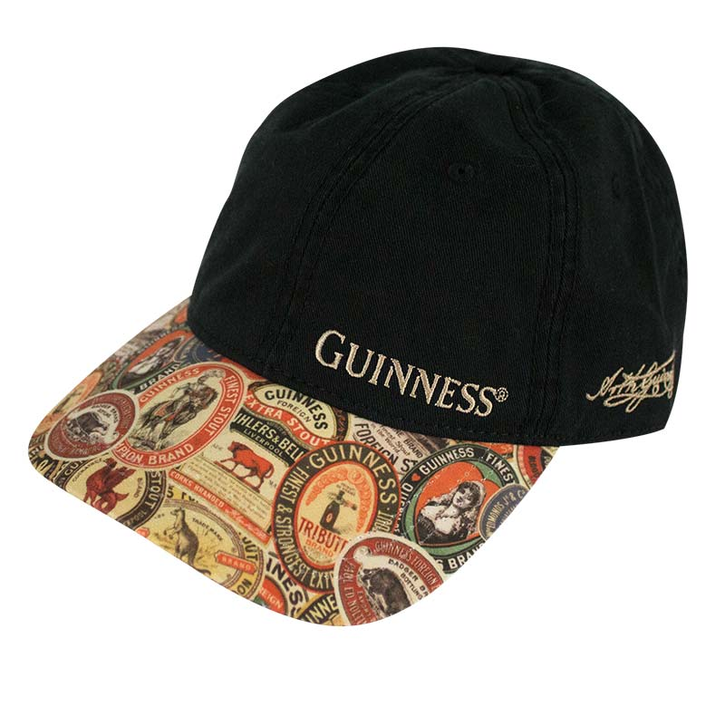 bf863123eeaa5 Guinness Extra Washed Vintage Label Black Hat