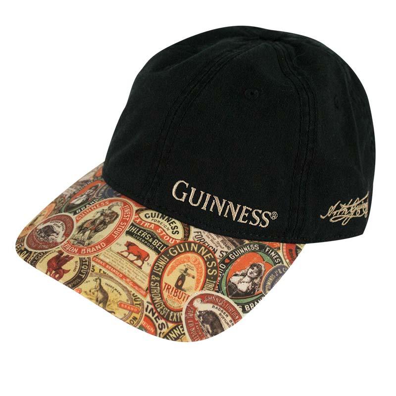 606cef61286 Guinness Extra Washed Vintage Label Black Hat