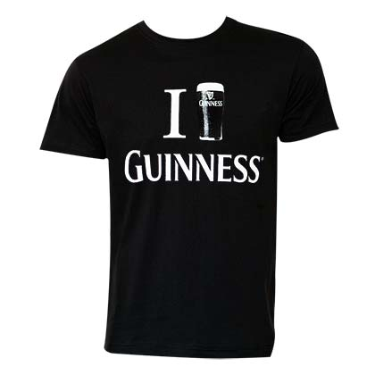 Guinness Men's Black Love T-Shirt