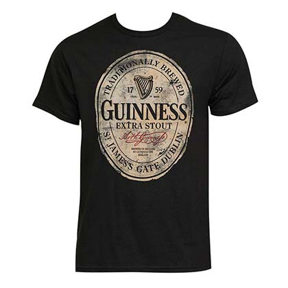 Men's Guinness Extra Stout Black Tee Shirt