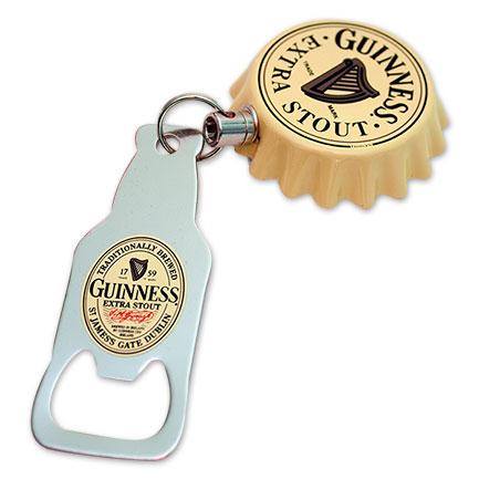 Guinness Beer Retractable Belt Clip Bottle Opener