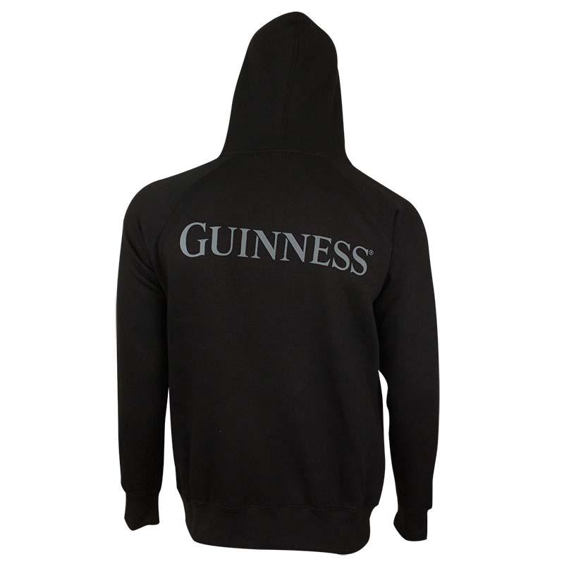 Guinness Men's Black Beer Pouch Hoodie