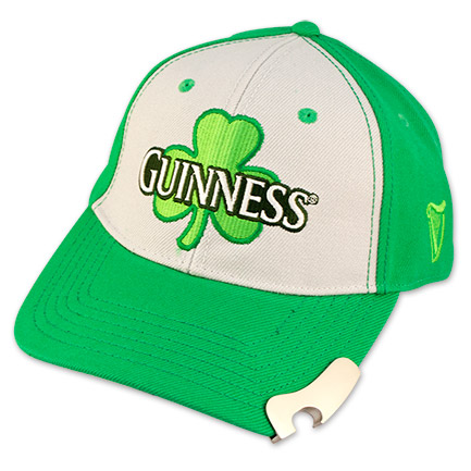 Guinness Shamrock Logo Bottle Opener Ball Cap