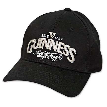 Guinness Beer Signature Label Adjustable Hat - Black