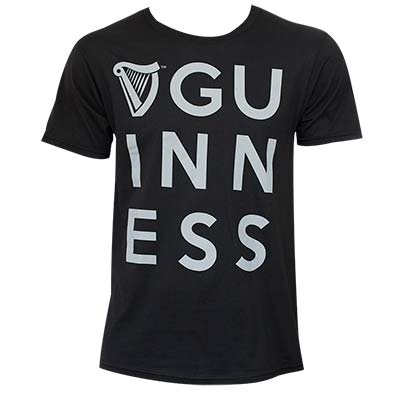 Guinness Men's Dublin Vision Black T-Shirt