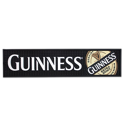 Guinness Stout 20 in. Rubber Bar Mat - Black