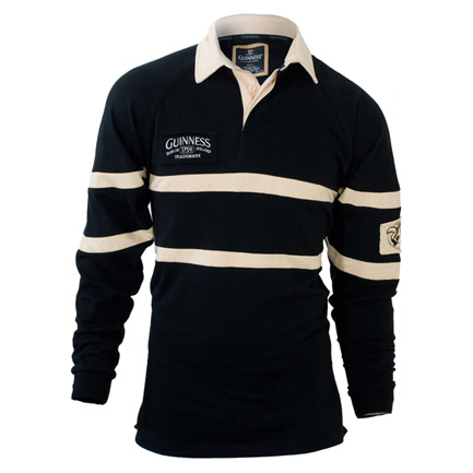 Guinness Beer Black and Cream Rugby Shirt