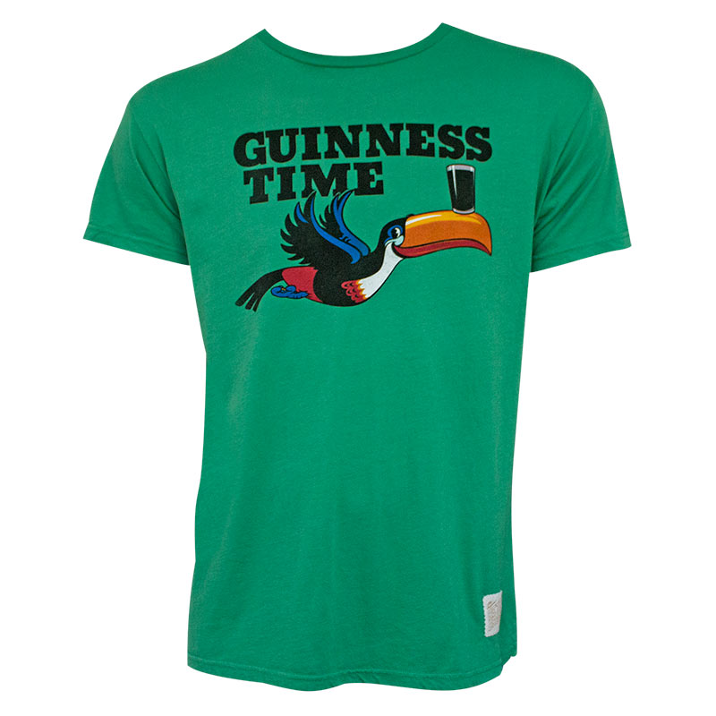 Guinness Time Toucan Green Premium Tshirt