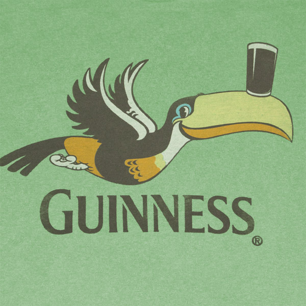 Guinness Toucan Pint Heather Green Graphic T Shirt